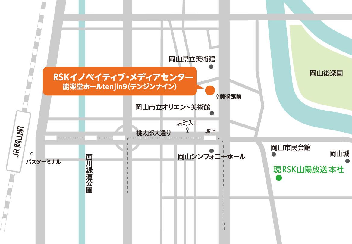 アクセスマップ 能楽堂ホールtenjin9(テンジンナイン) てんじん9 てんじんないん 天神9